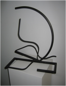 """""""Luna y mar"""". Hierro (material reciclado). 50 x 43 x 25 cm. 2009"""