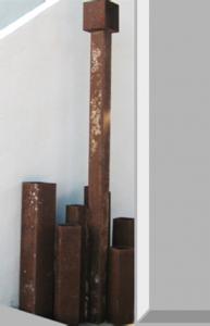 """""""Ciudad-Fuente"""". Hierro (material reciclado). 166 x 57 x 36 cm. 2011"""