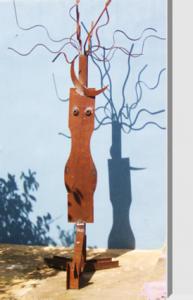 """""""La Pelos"""". Hierro (material reciclado). 267 x 152 x 144 cm. 2010"""