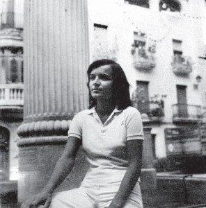 Concha Daud durante su estancia en Bocairent.