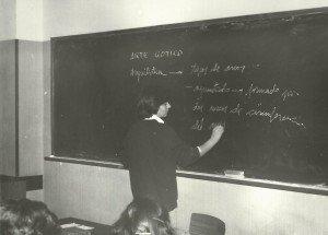 Concha Daud en sus inicios como profesora.