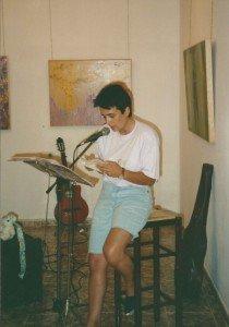 Concha Daud recitando en el Estudio CoCa.