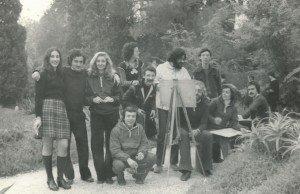 Con un grupo de compañeros/as en el Jardín Botánico.