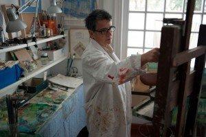 Concha Daud en su estudio.