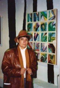 Concha Daud en la exposición de Limoges (Francia).
